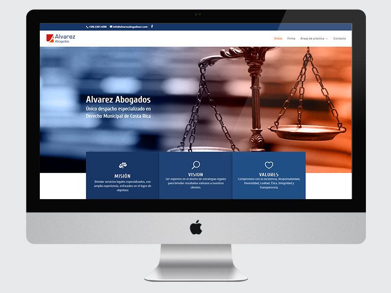 Diseno de la pagina web Alvarez Abogados