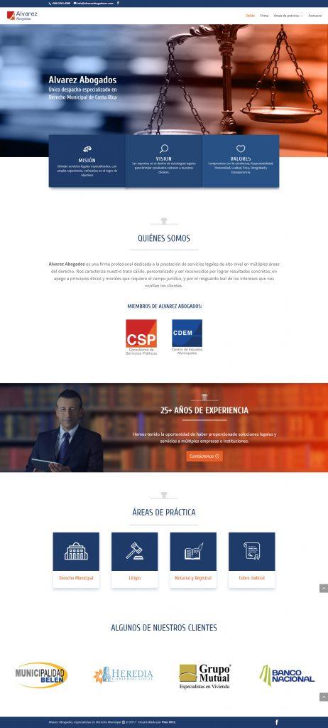 Alvarez Abogados diseño sitio web