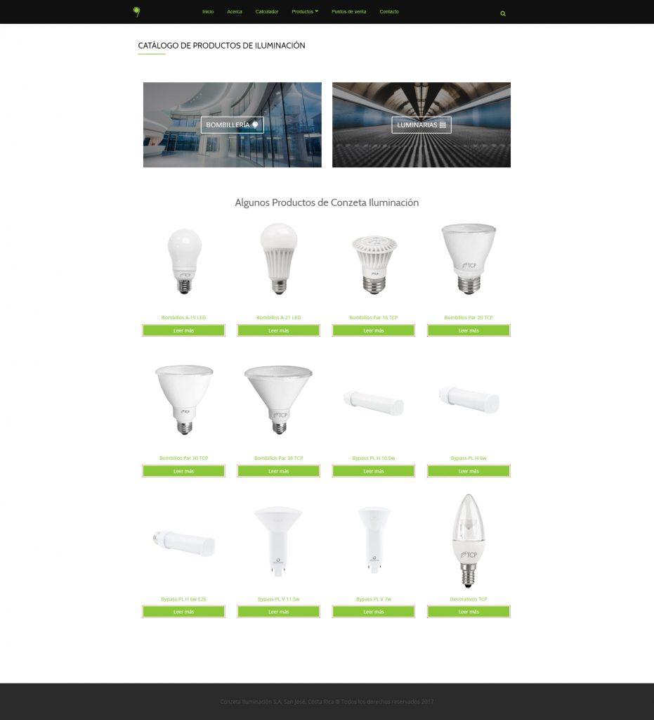 online product catalog design conzeta