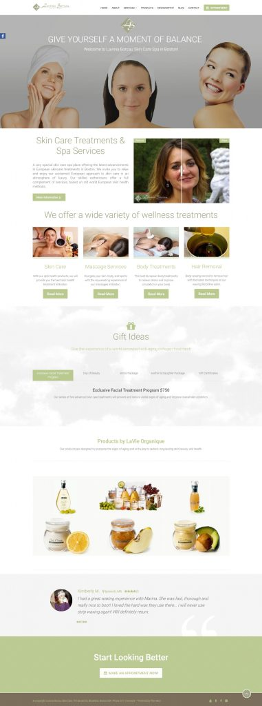 Lavinia Borcau website design