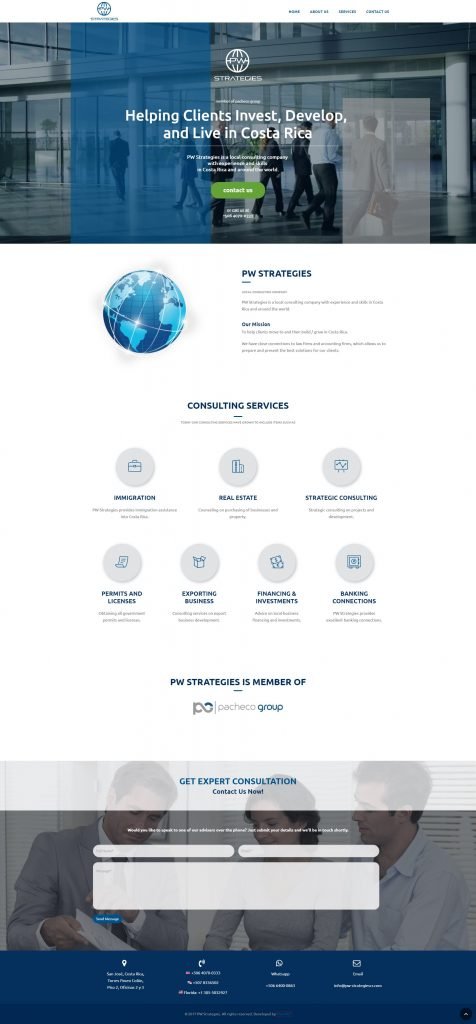 pw strategies sitio web costa rica