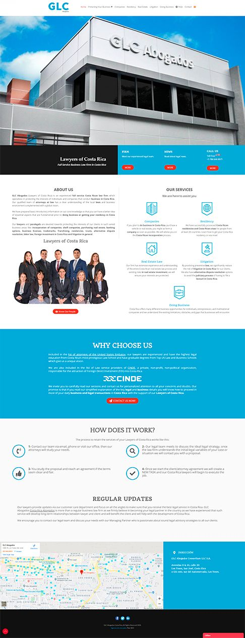 Lawyers of Costa Rica web redesign