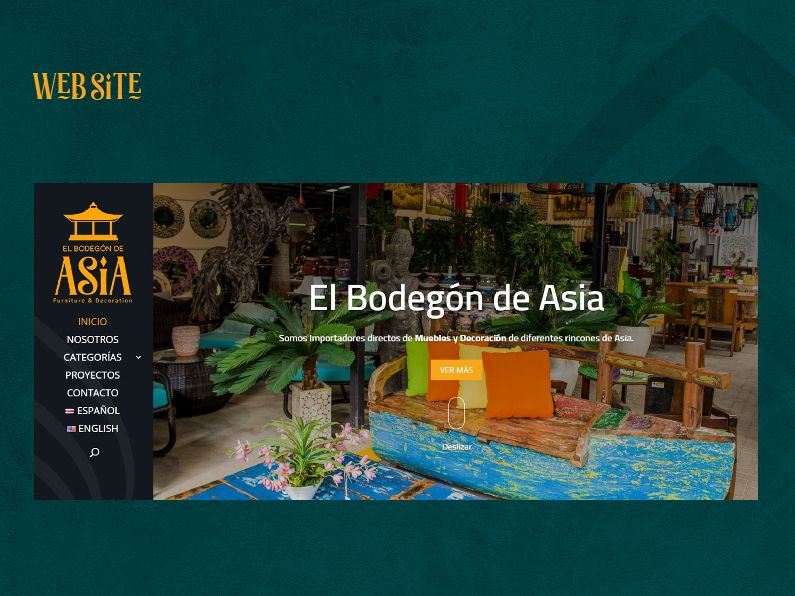 El Bodegón de Asia: sitio web