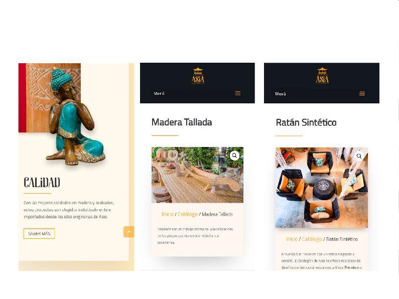 El Bodegón de Asia: sitio web responsive