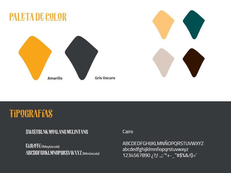 Paleta de colore de El Bodegón de Asia