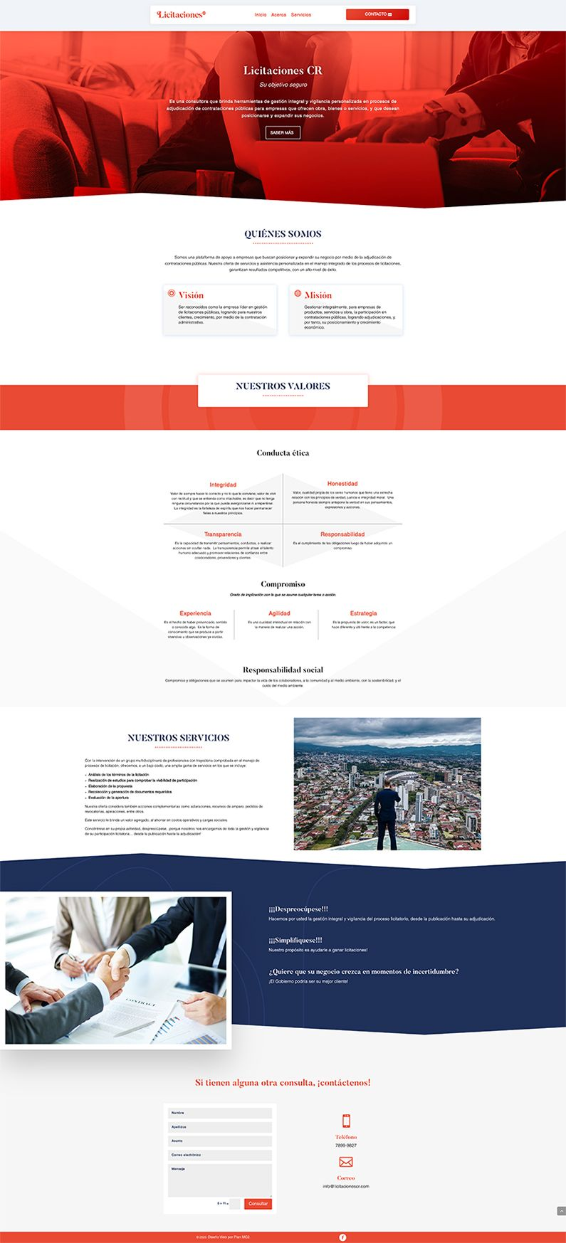 Licitaciones CR sitio web
